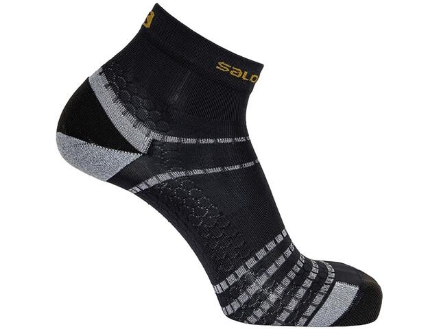 Salomon Nso Mid Run Socks, negro/gris